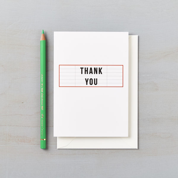 LSID greetings card cinema red thank you card