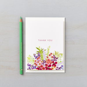 LSID greetings card secret garden floral thank you