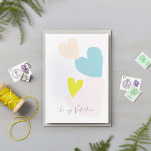 LSID greetings cards be my valentine hearts