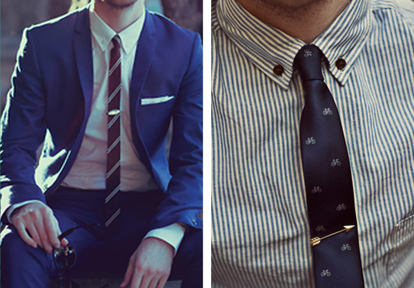 Mens wedding attire - everything looks better with a tie pin