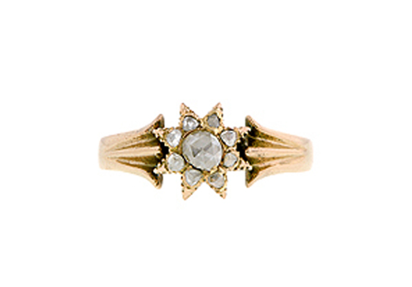 victorian rose cut diamond star ring doyle and doyle1