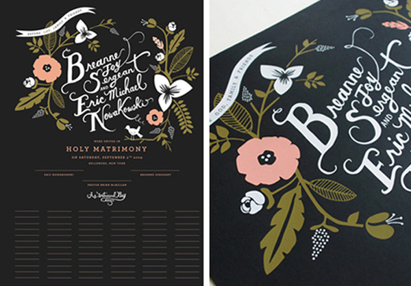Rifle paper company custom wedding_marriage certificate_feat