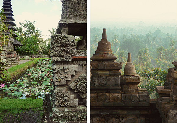 Monument Bali and Borobudur Java