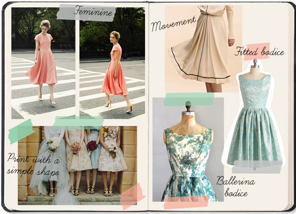 bridesmaids dress shape inspiration board feminine delicate high quality