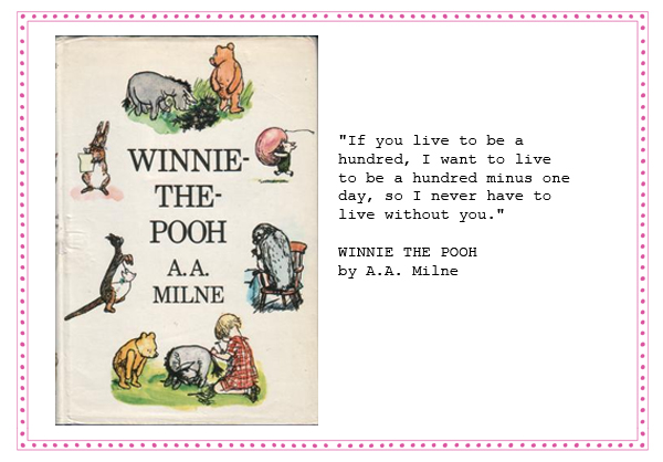 wedding readings and vow a.a milne winnie the pooh