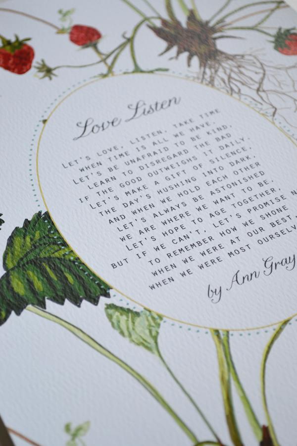 framed wedding reading vow