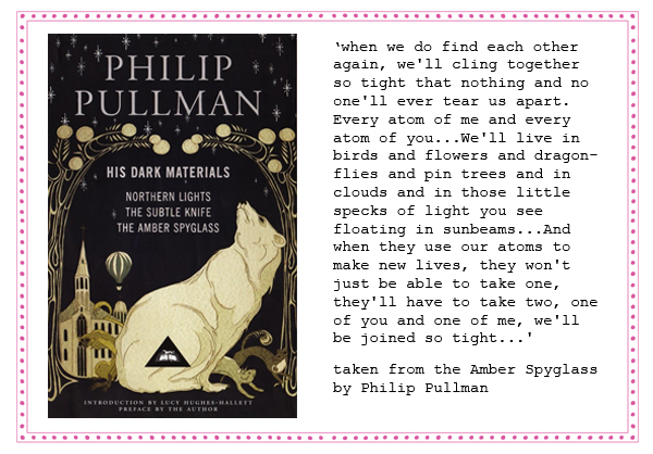 wedding vows and readings philip pullman amber spyglass