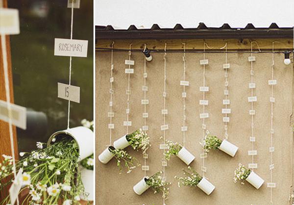 hanging flowers wedding seating plan