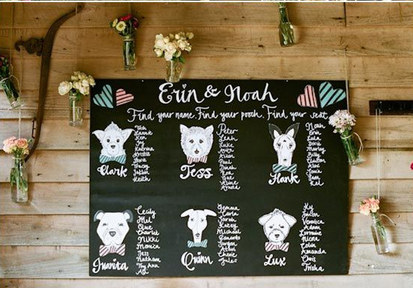wedding ideas for dog lovers finding your seat says i do 27910