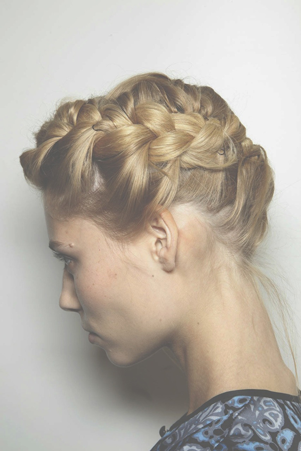 blonde hair braid plait wedding hair