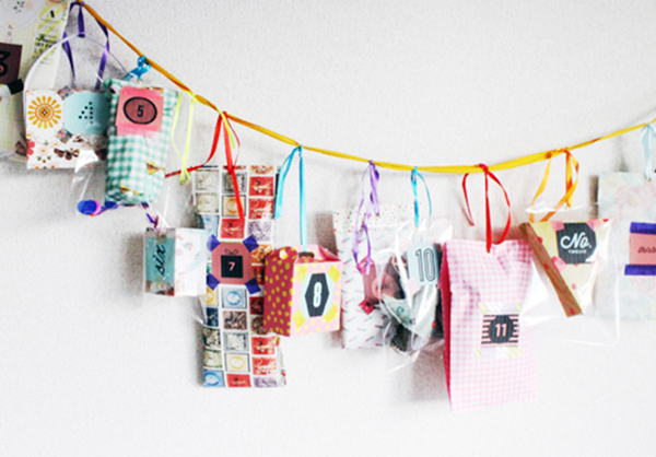 patterned DIY advent calendar_feat
