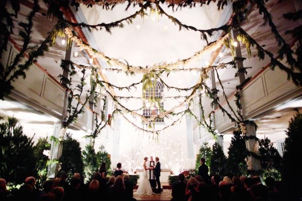 wedding decor garland paper crane flowers botanicals