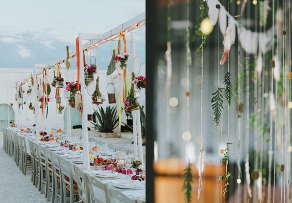 hanging wedding decor feat