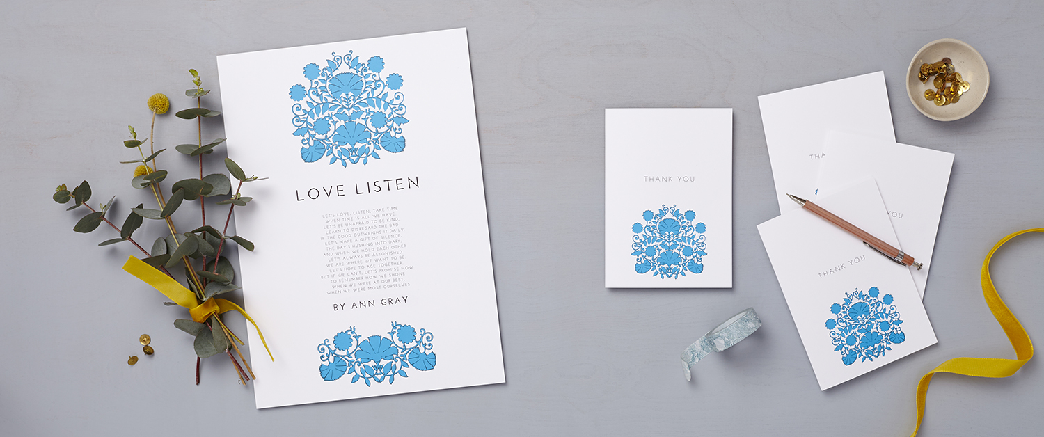 Lucy says I do LATF summer sky wedding stationery banner