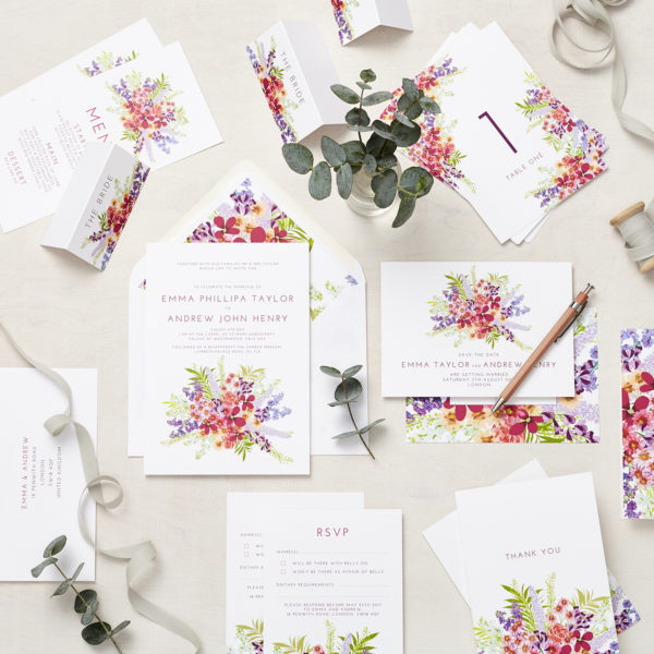 Lucy says I do secret garden wedding stationery