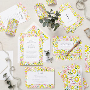 Lucy says I do ruby summer wedding stationery