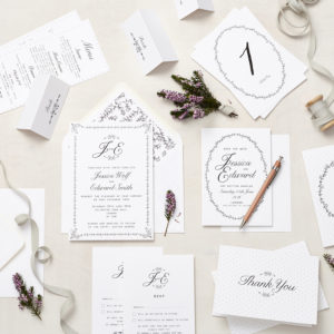 Lucy says I do daisy chain wedding stationery