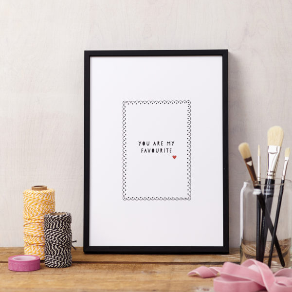 Lucy says I do art print LOVE you are my favourite framed