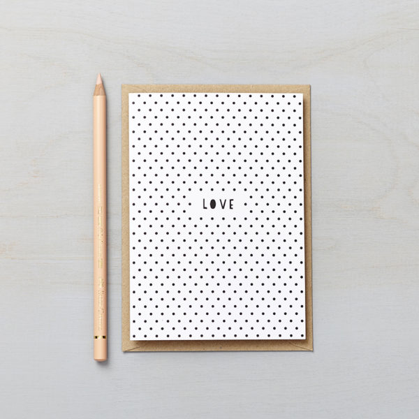 Lucy says I do greetings cards_polka dot love