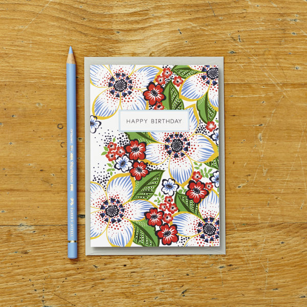 Lucy says I do greetings cards_retro floral HB_2
