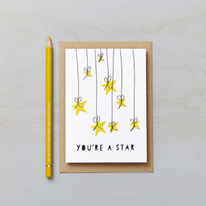 Lucy says I do greetings cards_youre a star