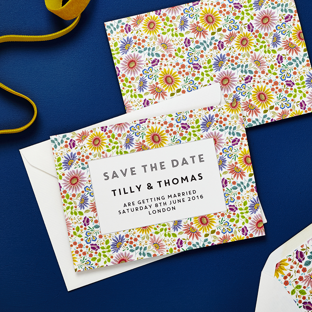 Lucy says I do save the date_bright flowers