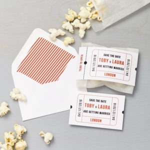 Lucy says I do save the date_cinema red popcorn