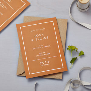 Lucy says I do save the date_retro school burnt orange pos