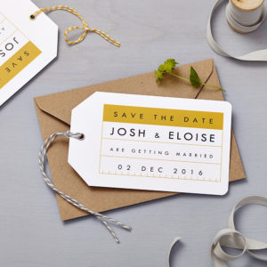 Lucy says I do save the date_retro school mustard tag