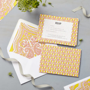 Lucy says I do wedding RSVP mandala yellow