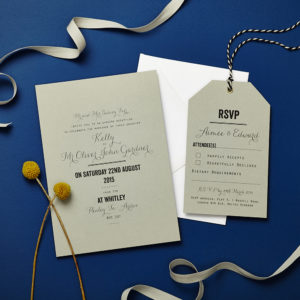 Lucy says I do wedding invitation_Tag grey