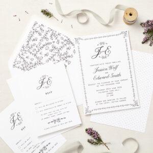 Lucy says I do wedding invitation_daisy chain