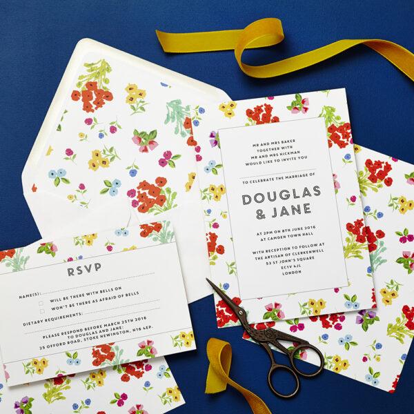 Lucy says I do wedding invitation_ditsy