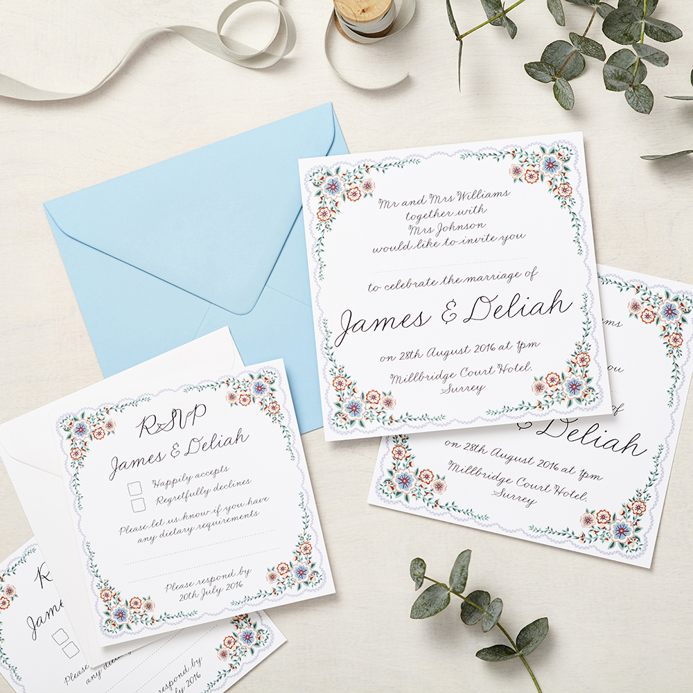 Lucy says I do wedding invitation_english summer garden
