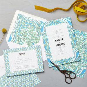 Lucy says I do wedding invitation_mandala blue
