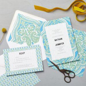 Lucy says I do wedding invitation_mandala blue