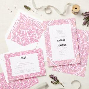 Lucy says I do wedding invitation_mandala pink
