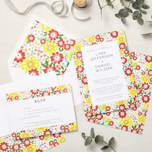 Lucy says I do wedding invitation_ruby bright