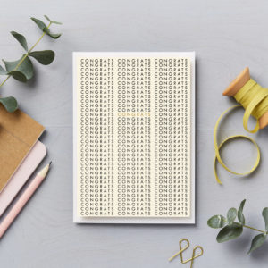 congrats on repeat congratulations card with gold foil