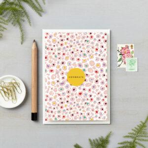 congratulations card congrats little pink leopard print card