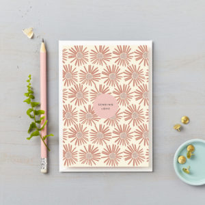 sending love card pink daisies garden