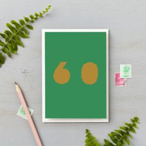 50th Birthday Card Bright Block Retro Colours