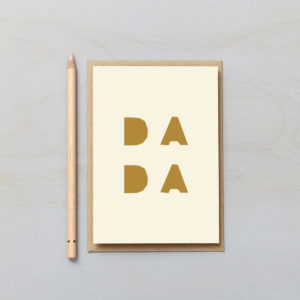 dada card block letters