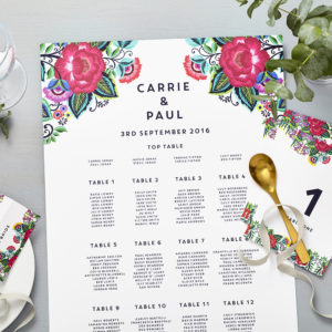 Lucy says I do floral folk wedding seating plan009