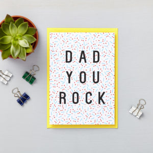 Lucy says I do greetings cards_fathers day dad you rock