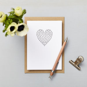 Lucy says I do greetings cards_love card_small heart polka dots