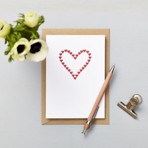 Lucy says I do greetings cards_love card_small heart red hearts