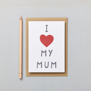 Lucy says I do greetings cards_mothers day I heart my mum