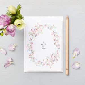 Lucy says I do greetings cards_mothers day love my mum rose