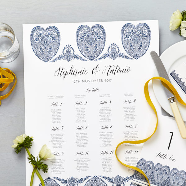 Lucy says I do indian summer indigo wedding seating plan013